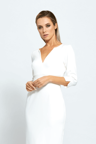 carmen ivory white dress by a girl