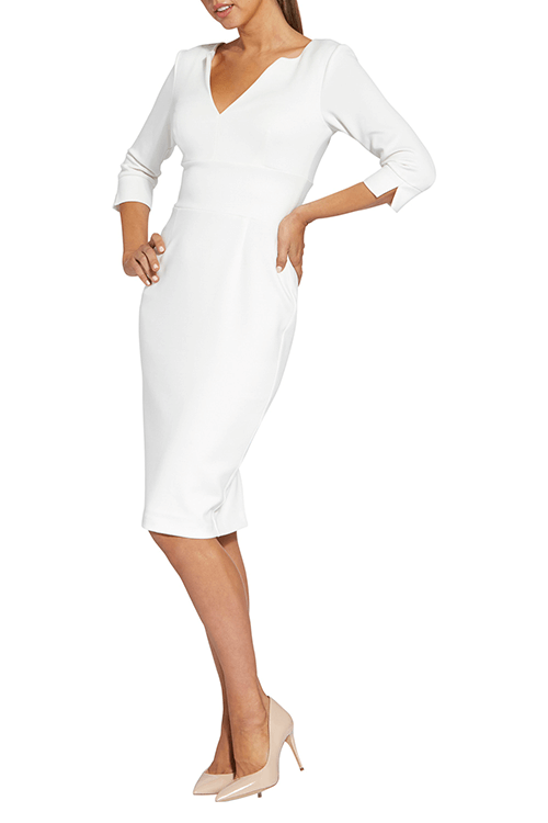 white whole dress wear by woman
